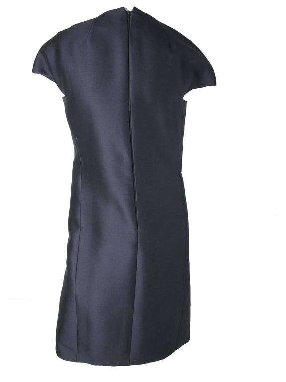 Black 1960s Geoffrey Beene Navy Cocktail Dress -sale For Sale