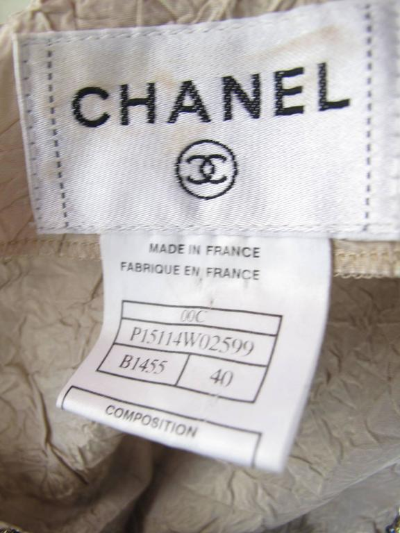 Chanel Evening Gown with Metallic Thread and Beading  In Excellent Condition For Sale In Austin, TX