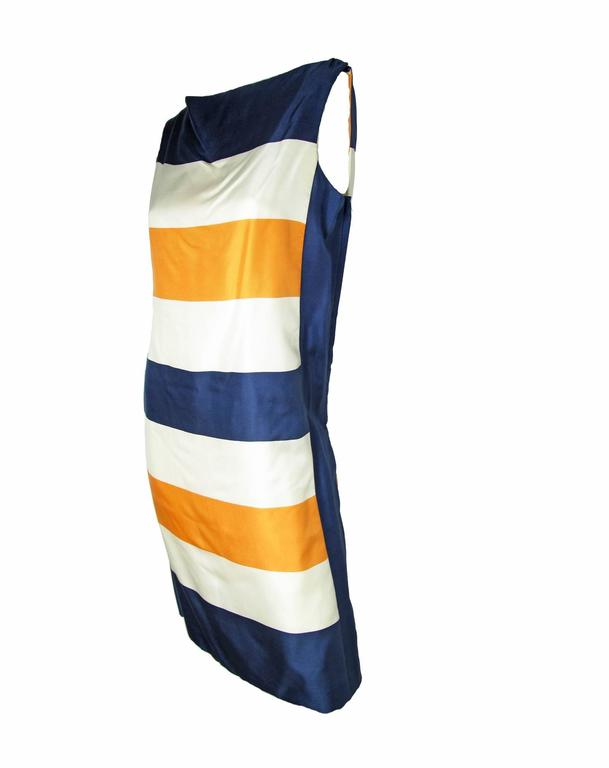 Orange Early 1960s Teal Traina Silk Dress For Sale