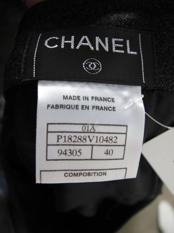 Chanel Charcoal Wool Pleated Skirt 3