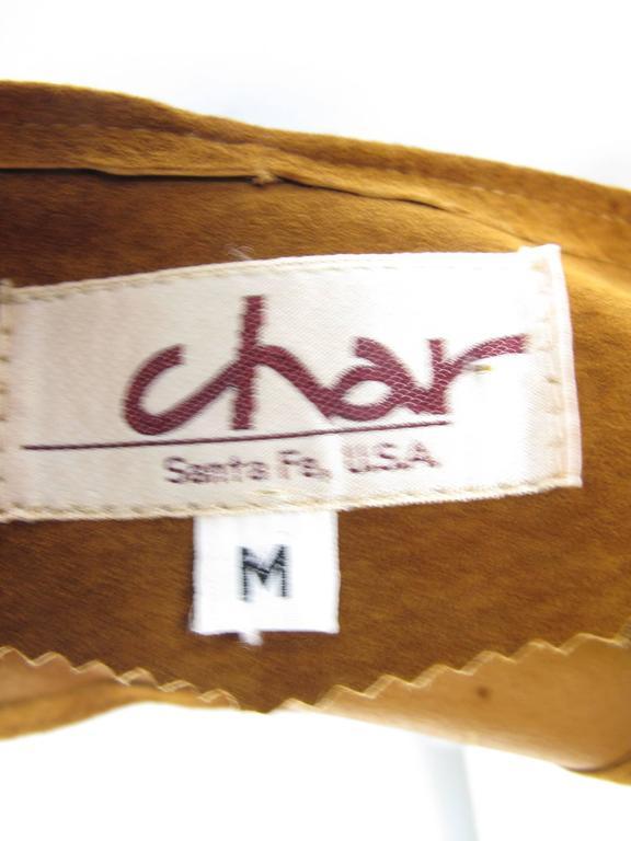 Women's 1980s Char Painted Leaf Vest  For Sale
