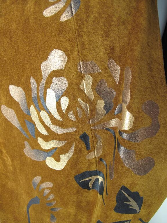 1980s Char Painted Leaf Vest  For Sale 1