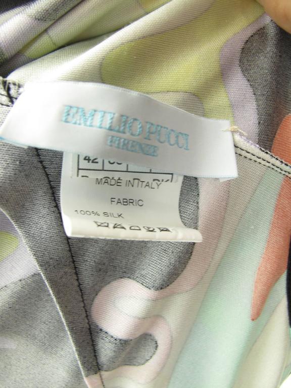 Beige Pucci Silk Printed Tank Dress  For Sale