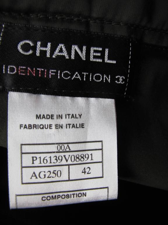 Chanel Army Green Quilted Skirt 3