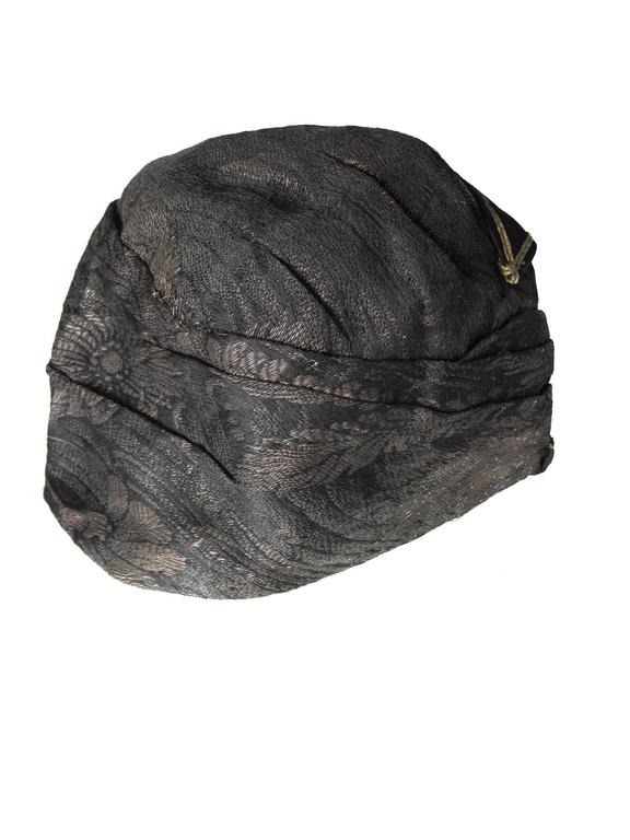 1920s brocade hat