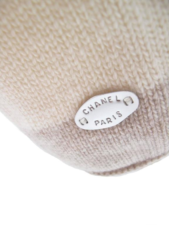 Beige Chanel Cashmere Sweater  For Sale