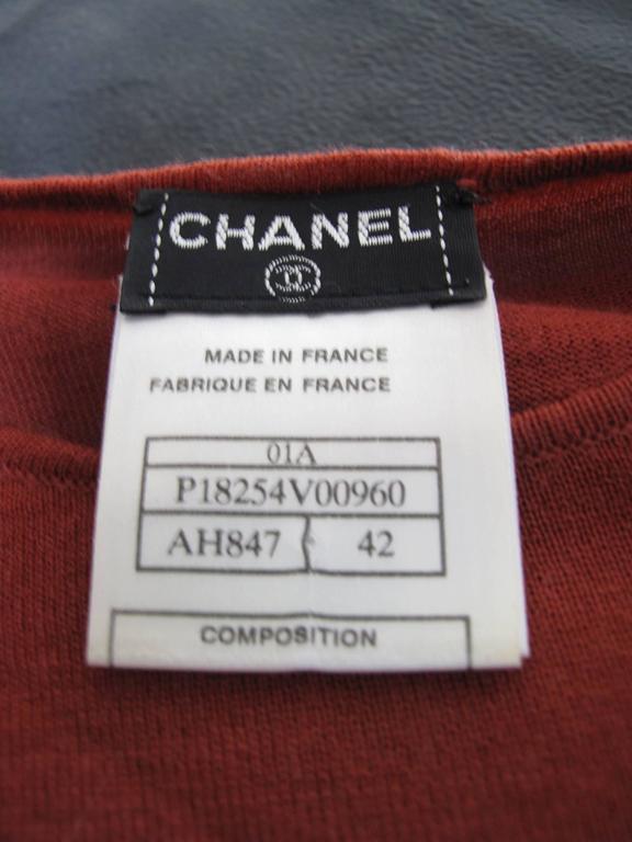 Chanel Rust Fine Wool Sweater - sale 2