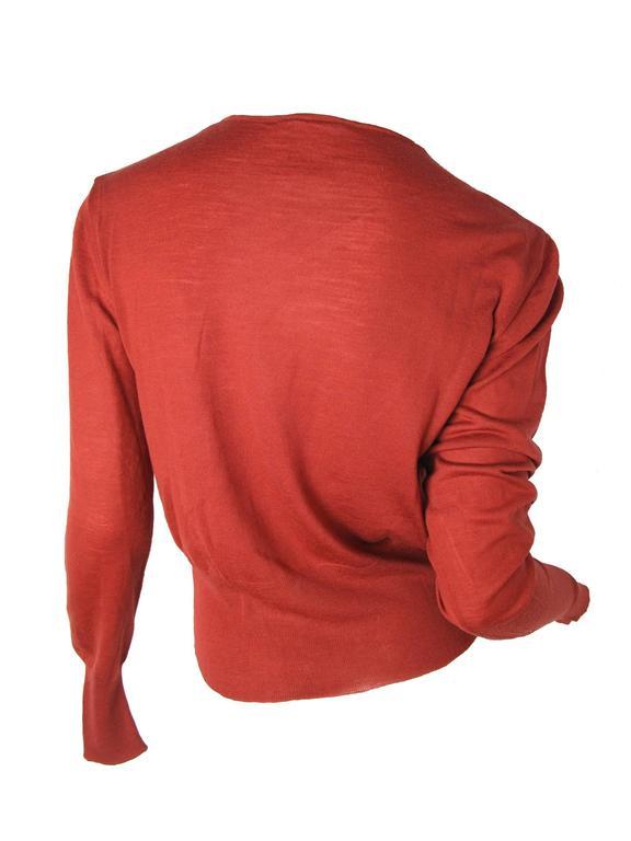 Chanel Rust Fine Wool Sweater - sale 3