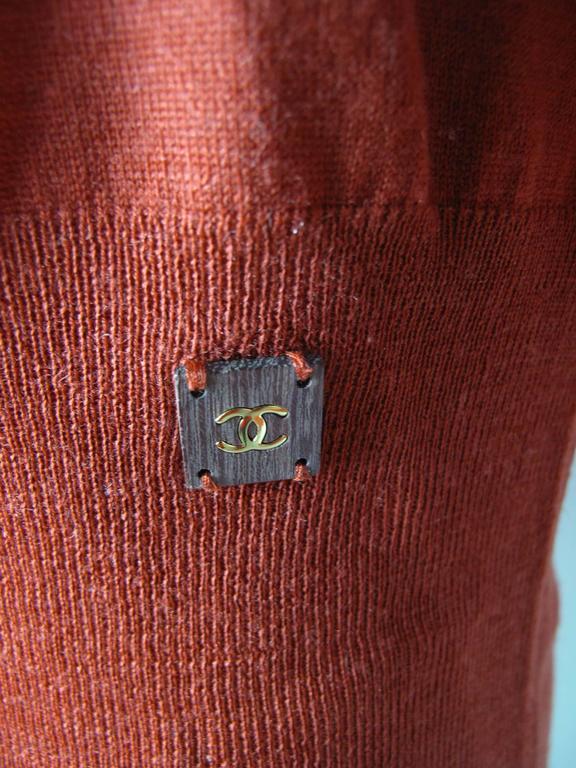 Chanel Rust Fine Wool Sweater - sale 4