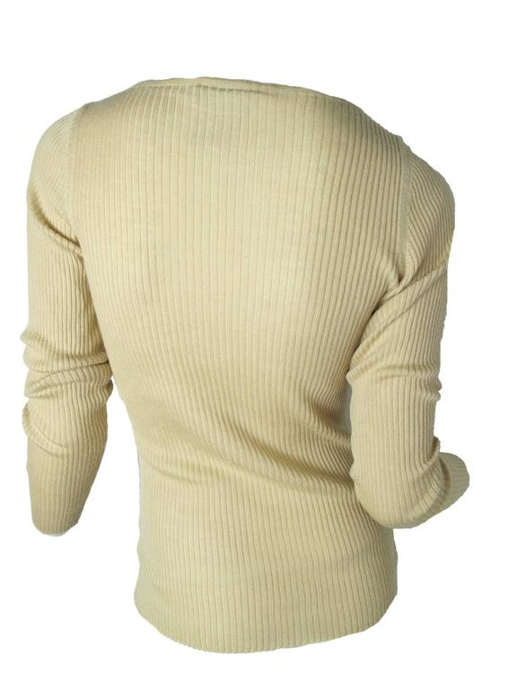 Chanel Beige Cashmere/Silk Ribbed Sweater 2