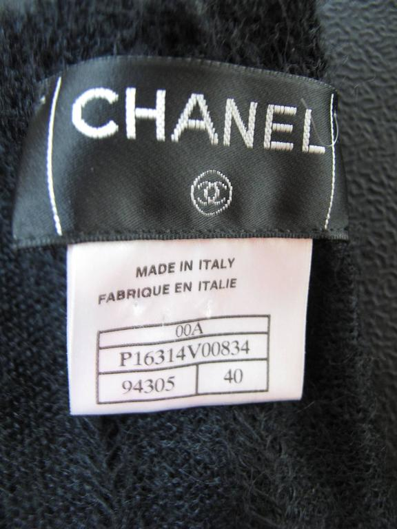Chanel Black Mohair Wrap Sweater   For Sale 1
