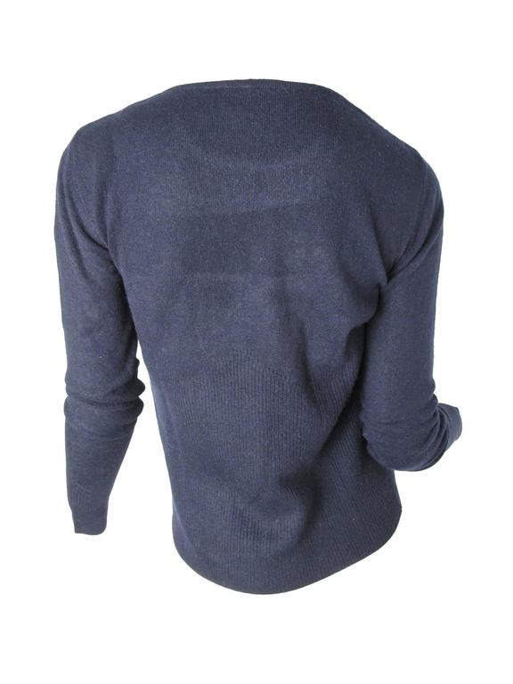 Missoni Navy Cashmere Pull Over Sweater 2