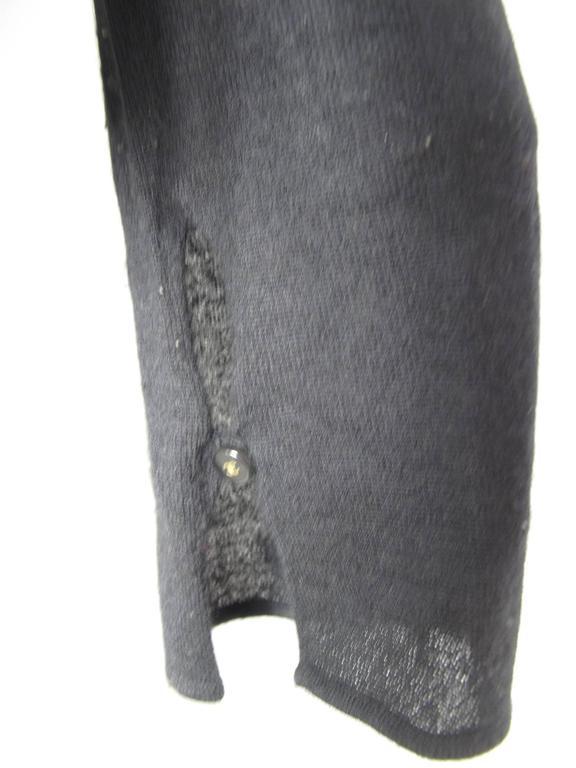 Chanel Black Cashmere Tear Drop Sweater -sale 4