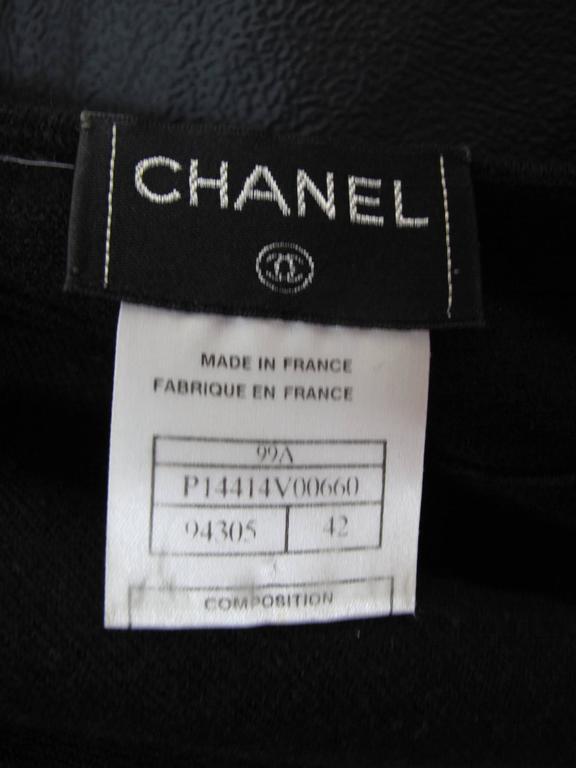 Chanel Black Cashmere Tear Drop Sweater -sale For Sale 1