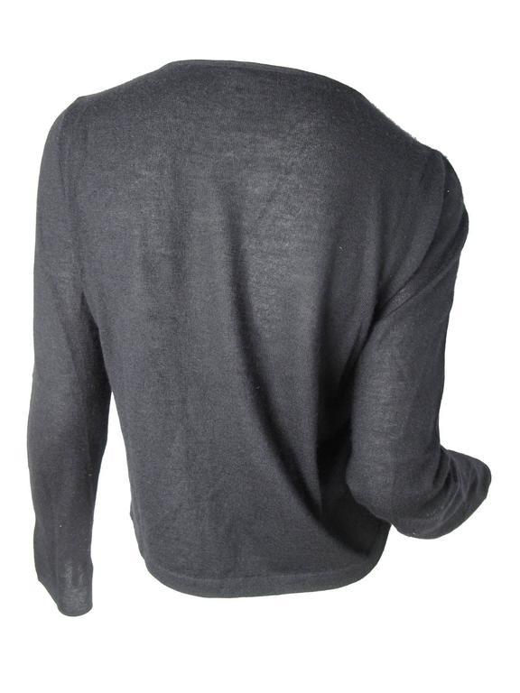 Chanel Black Cashmere Tear Drop Sweater -sale 3