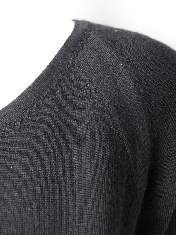 Chanel Black Cashmere Silk Scoop Neck Sweater  In Excellent Condition For Sale In Austin, TX