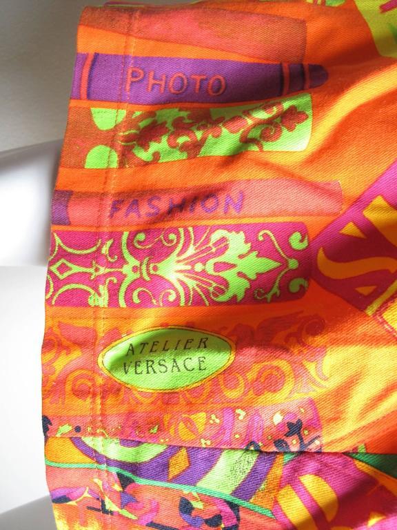 Pink Istante Versace Hockney Skirt For Sale