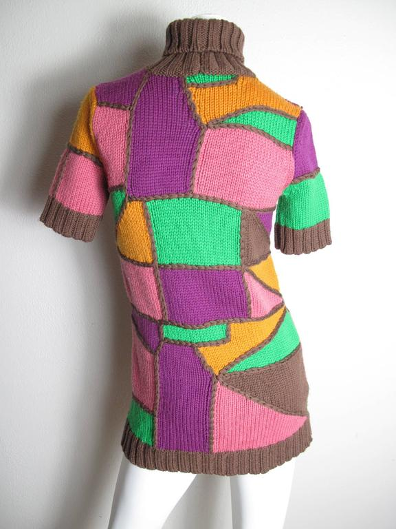 Pucci Multi - Colored Patchwork Knit Sweater 3