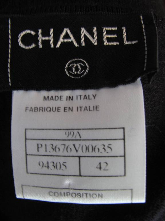 Chanel Black Cashmere / Silk Tee  3