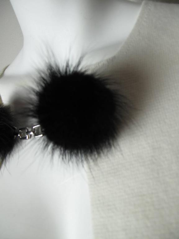 Louis Vuitton Cashmere Sweater with Mink Pom-Pom Sweater Clip 2