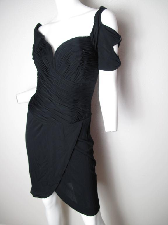 Women's Vicky Tiel Black Cocktail Dress  For Sale