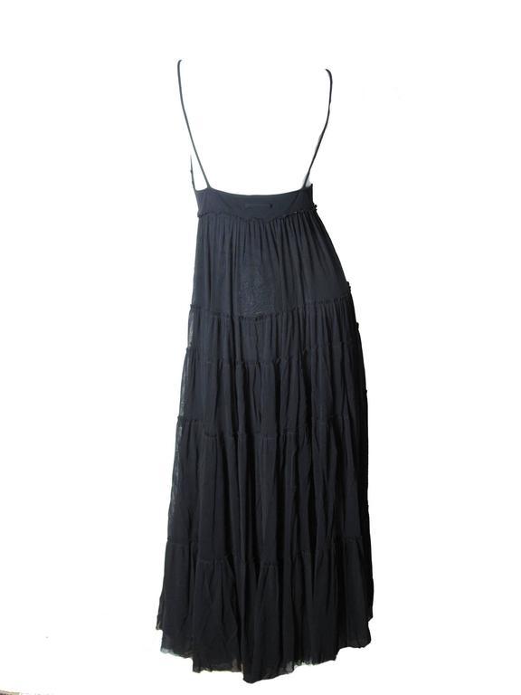 Black Jean Paul Gaultier Long Sheer Mesh Dress For Sale