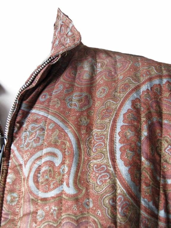 1970s Yves Saint Laurent RIve Gauche Paisley Coat In Fair Condition For Sale In Austin, TX