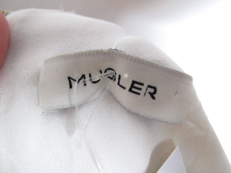Mugler Eyelash Top In Excellent Condition For Sale In Austin, TX