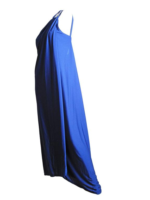 Adele Simpson One Shoulder Gown, 1970s 2