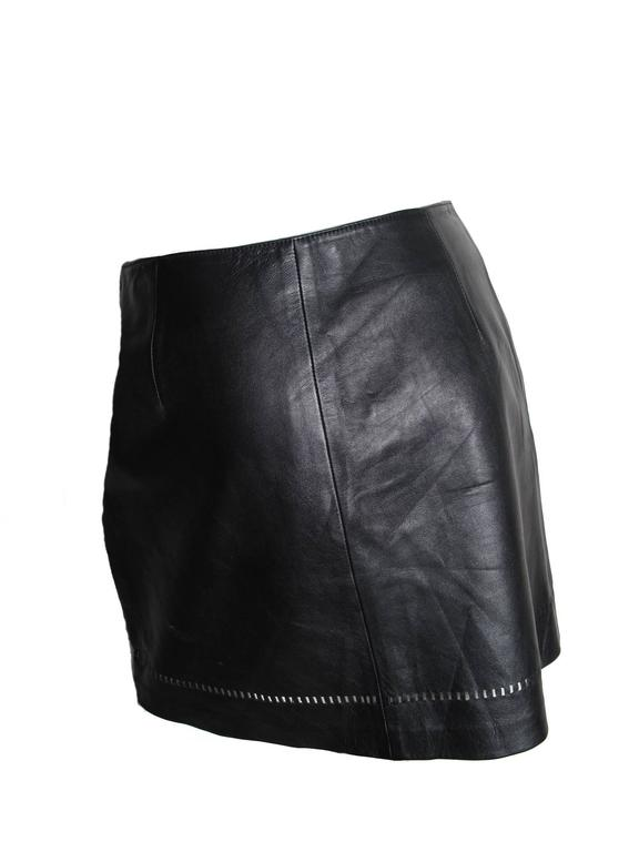 Versus Leather Mini Skirt 2