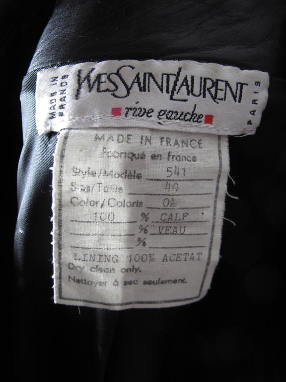 Yves Saint Laurent Leather Shirt  3