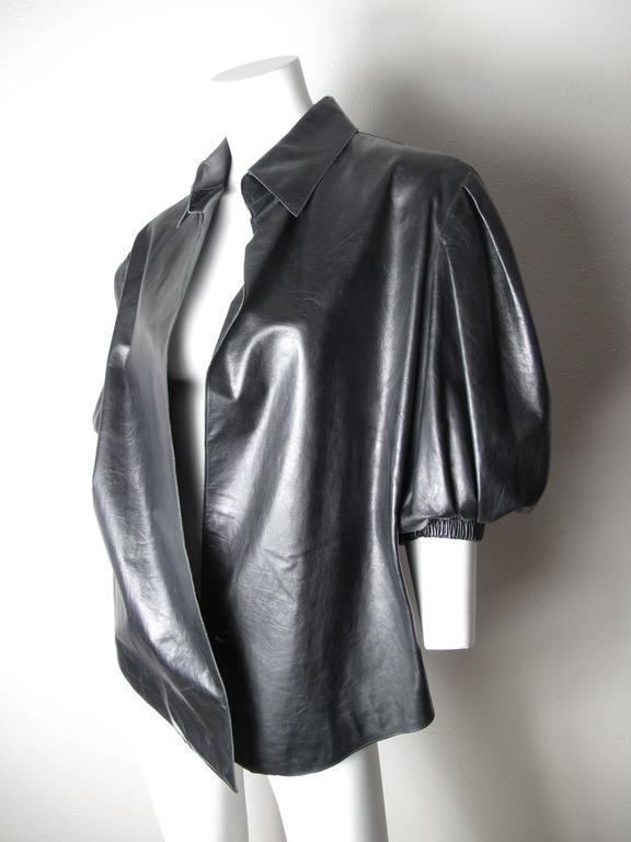 Yves Saint Laurent Leather Shirt  4