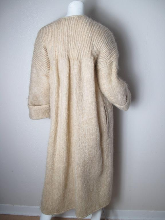 1970s Geoffrey Beene Sweater Coat with Pleating In Excellent Condition For Sale In Austin, TX