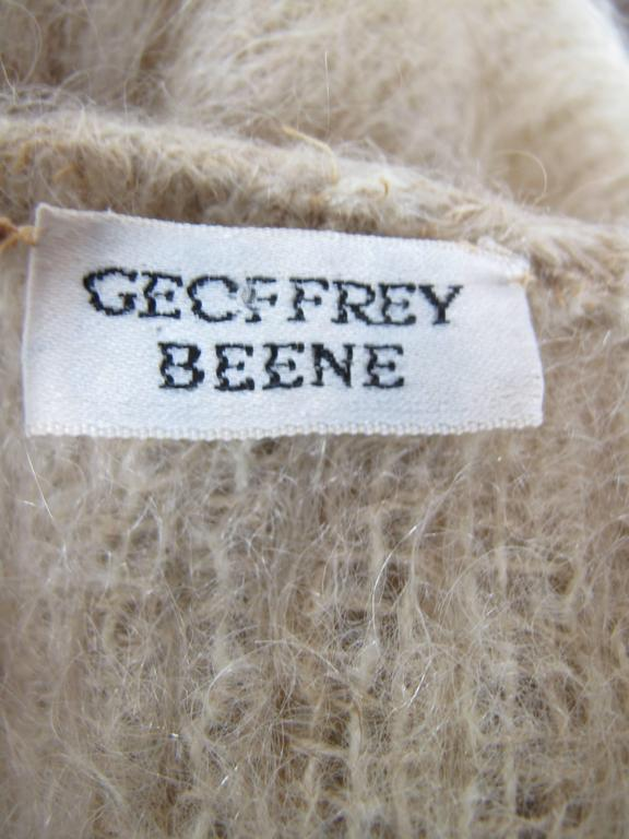 Women's 1970s Geoffrey Beene Sweater Coat with Pleating For Sale