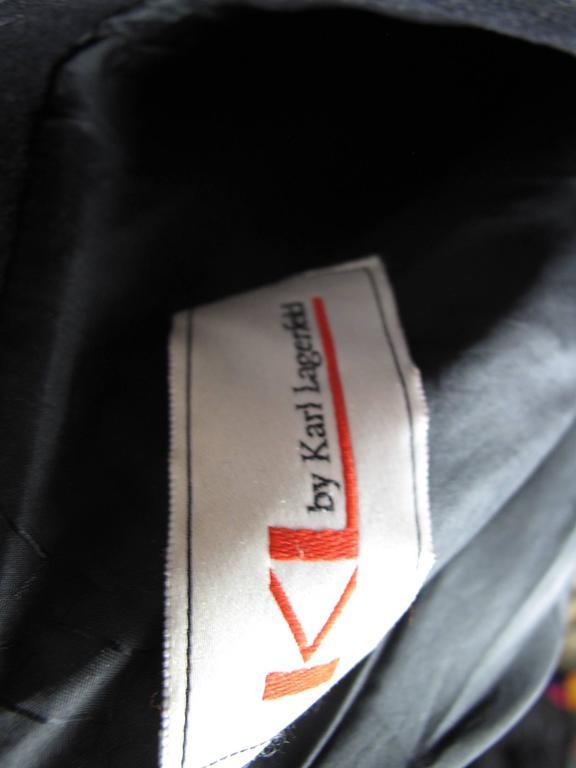 Black 1980s Karl Lagerfeld Coat For Sale