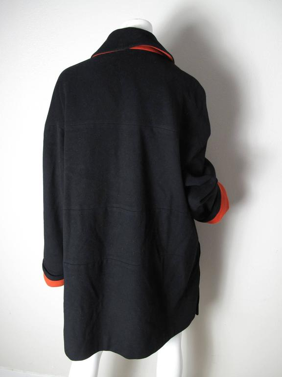 Karl Lagerfeld Coat, 1980s  In Excellent Condition For Sale In Austin, TX