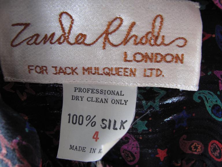 Zandra Rhodes Star Printed Silk Dress 3