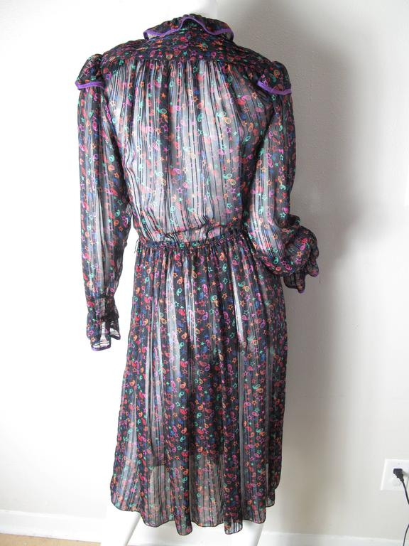 Zandra Rhodes Star Printed Silk Dress 2
