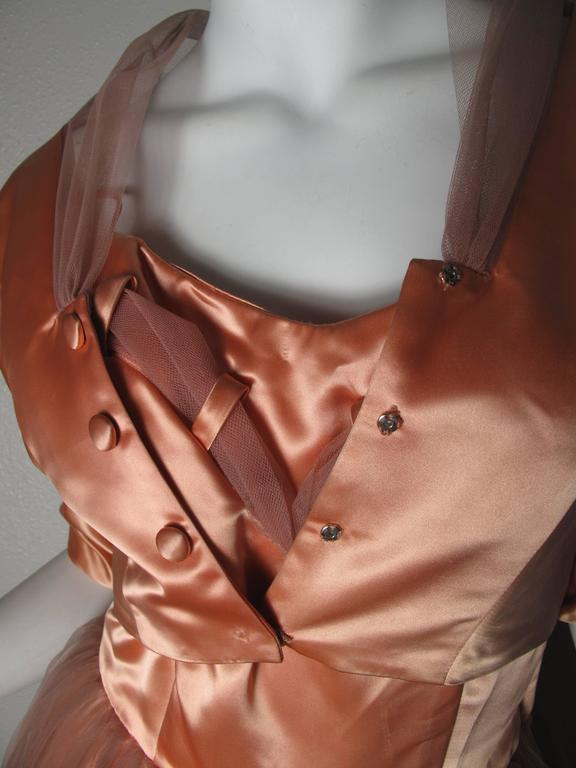 1950s Tulle and Satin Dress with Jacket 7