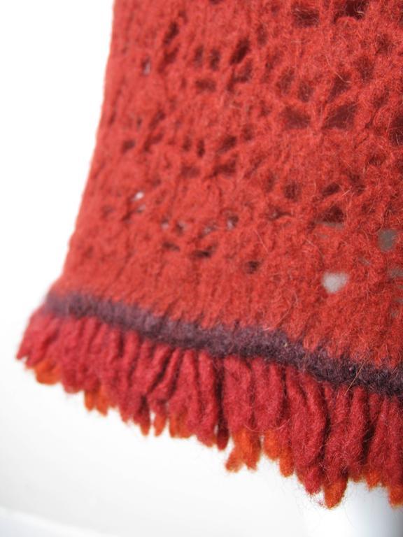 Red Chanel Crochet Skirt  For Sale