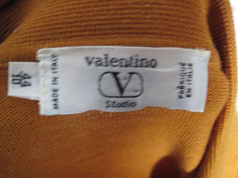 Orange  Valentino Cardigan For Sale