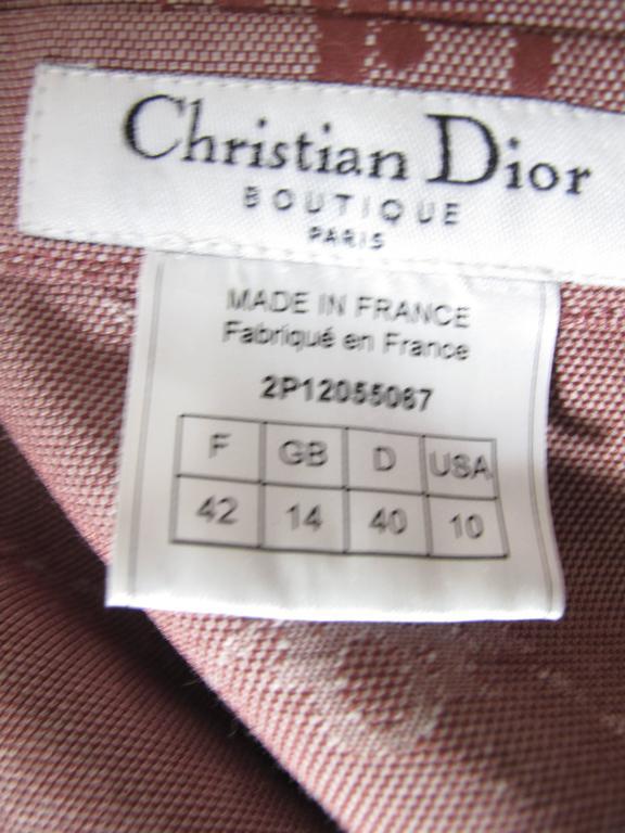 Brown Christian Dior Logo Cowboy Shirt  For Sale