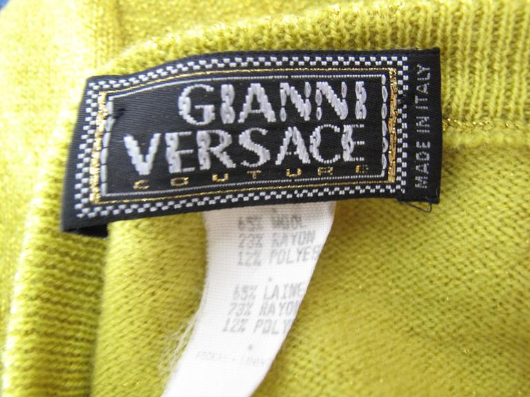 1997 Versace Couture Beaded Sleeveless Sweater  4