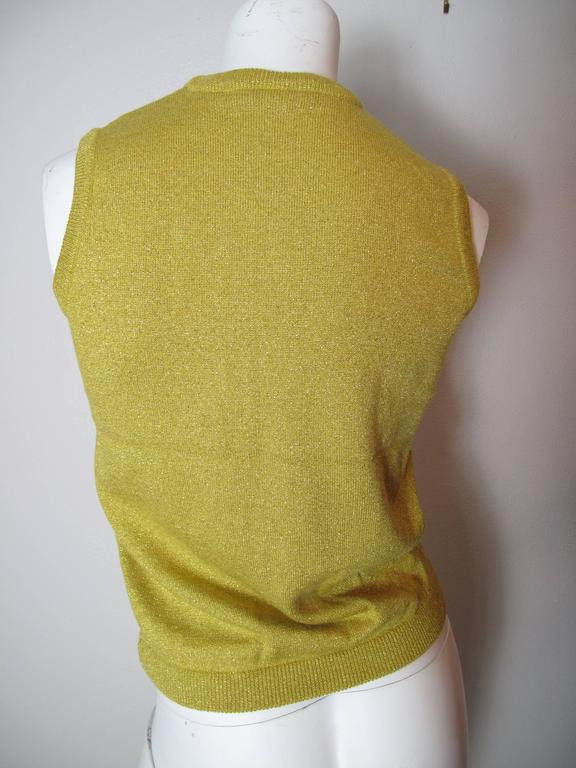 1997 Versace Couture Beaded Sleeveless Sweater  3