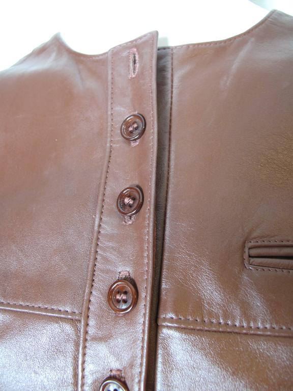1970s Anne Klein Leather Jumper For Sale 1