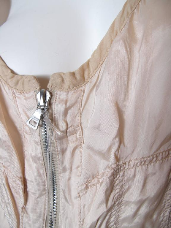 Prada Pale Pink Zip Up Bustier  In Excellent Condition For Sale In Austin, TX