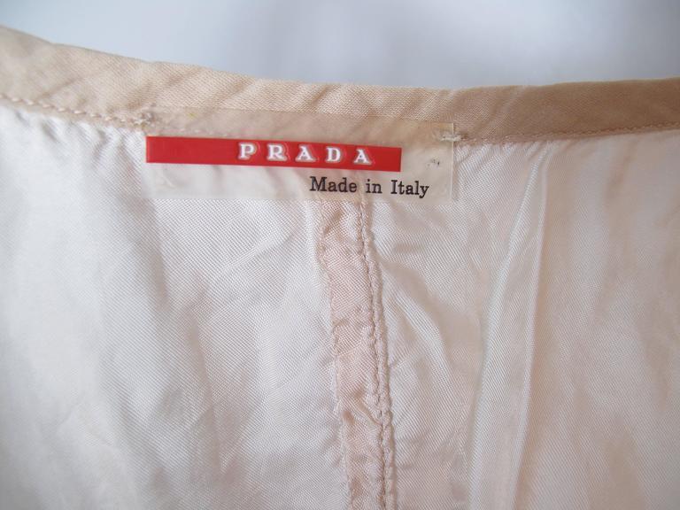 Women's or Men's Prada Pale Pink Zip Up Bustier  For Sale