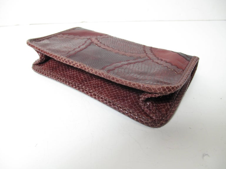 Black Carlos Falchi Patchwork Clutch For Sale