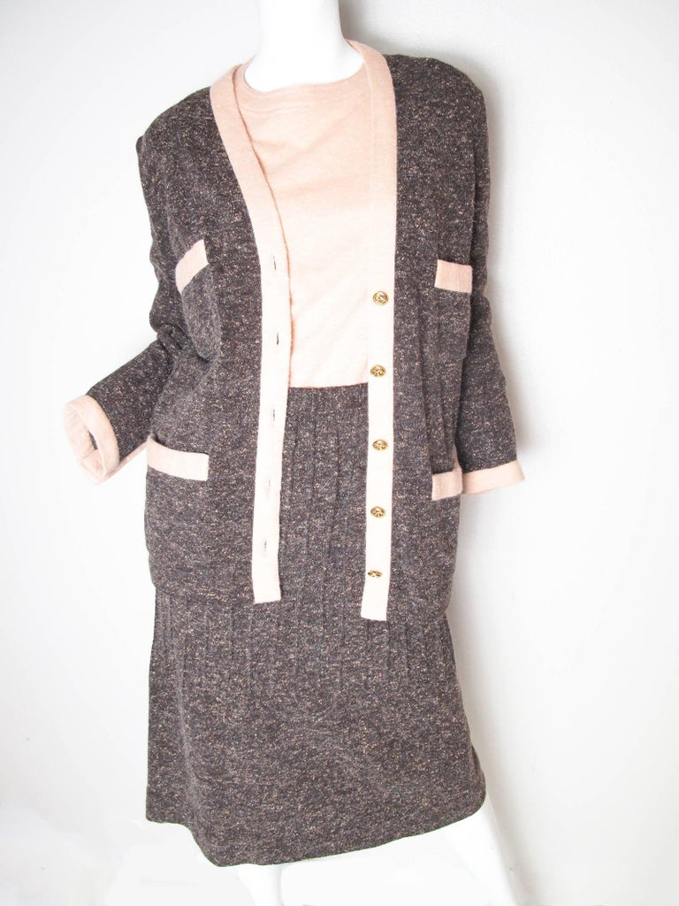 Chanel Knit Three piece Suit, 1980s   4