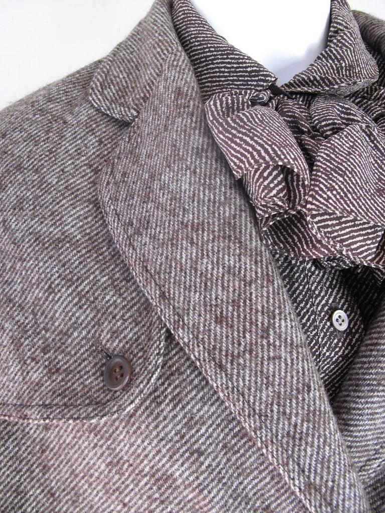 Brown Geoffrey Beene 3 Piece Skirt Suit, 1970s For Sale